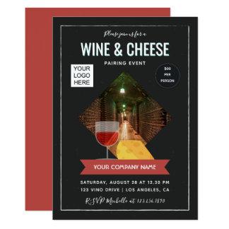 Carte Le vin et le fromage appareillant l'événement