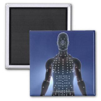 Carte légère des points d'acuponcture magnet carré