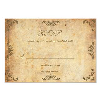 Carte l'épousant florale vintage de RSVP Carton D'invitation 8,89 Cm X 12,70 Cm