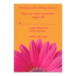 Carte l'épousant orange de la marguerite rose RSVP Bristols Personnalisés