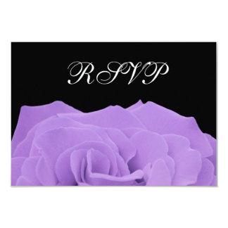 Carte l'épousant rose et noire de lavande de RSVP Faire-part Personnalisé
