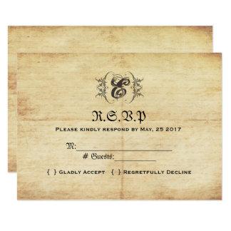 Carte l'épousant vintage du conte de fées RSVP Carton D'invitation 8,89 Cm X 12,70 Cm