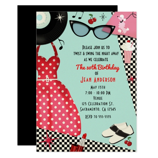 Super Invitations & Faire-part Rockabilly personnalisés | Zazzle.fr XQ61