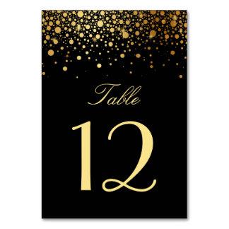Carte Les confettis de feuille d'or de Faux pointillent