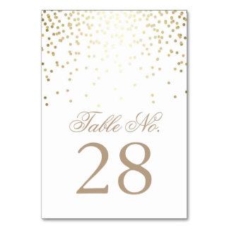 Carte Les confettis d'or pointillent le nombre blanc de