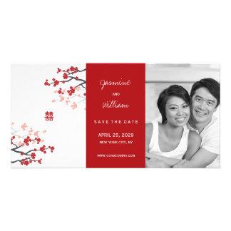 Carte Les doubles Chinois rouges de bonheur de Sakura
