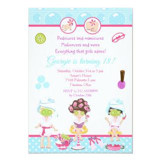 Carte Les filles de spa choient la fête d'anniversaire