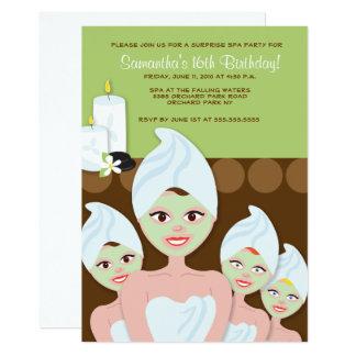 Carte Les filles de SPA PARTY l'anniversaire ou la