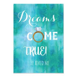 Carte Les rêves viennent véritable demande de demoiselle