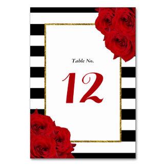 Carte Les roses rouges de collection Luxe moderne chic
