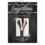 Carte lesbienne de félicitations de mariage