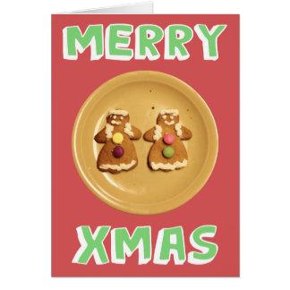 """Carte lesbienne de """"joyeux Noël"""" (avec le message)"""