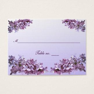 Carte lilas florale d'escorte de mariage