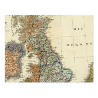 Carte linguistique des îles britanniques cartes postales
