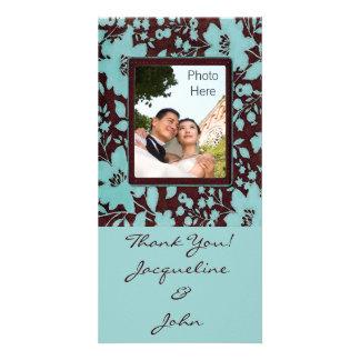Carte L'insertion de photo carde le Merci de ~ épousant