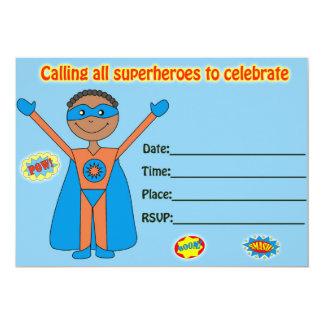 Carte L'invitation d'anniversaire de super héros