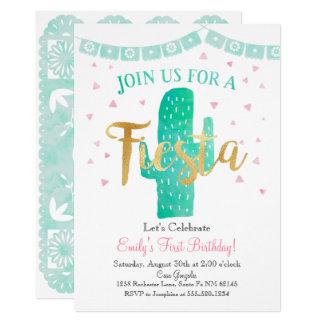 Carte L'invitation de cactus de fiesta, se