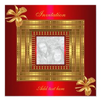Carte L'invitation toute occasionne le rouge riche d'or