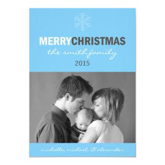 Carte lisse de Joyeux Noël (flocon de neige Carton D'invitation 12,7 Cm X 17,78 Cm