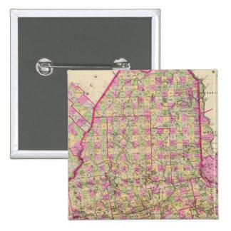 Carte lithographiée du Maine Badges