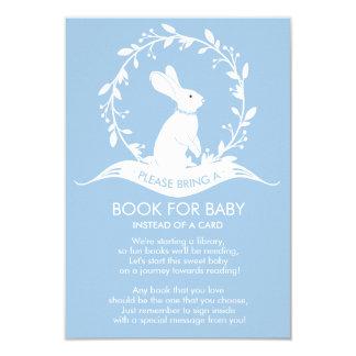 Carte Livre de baby shower de garçons de lapin pour la