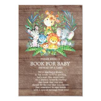 Carte Livre neutre de baby shower de jungle de safari
