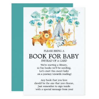 Carte Livre tribal de baby shower d'animaux de région