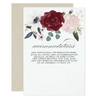 Carte Logement floral romantique