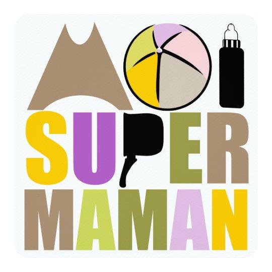 """Carte """"Logo Nature"""" - Moi Super Maman"""