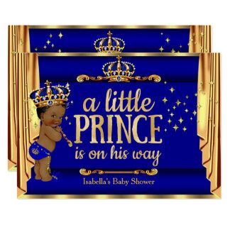Carte L'or de bleu royal drape le prince baby shower