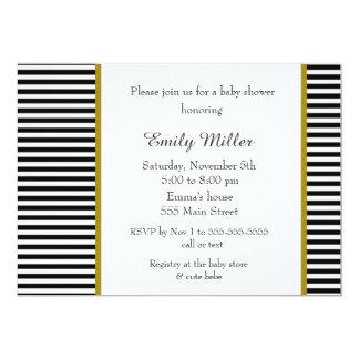 Carte L'or noir barre l'invitation de baby shower