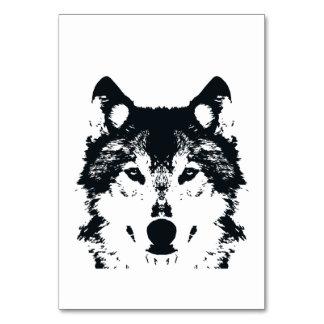 Carte Loup noir d'illustration