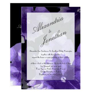 Carte L'ultraviolet élégant fleurit le monogramme