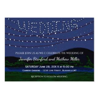 Carte Lumières rustiques de ficelle de mariage