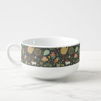 Carte lumineuse savoureuse de thé mug à potage