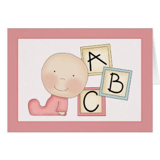 Carte lunatique de félicitations de bébé