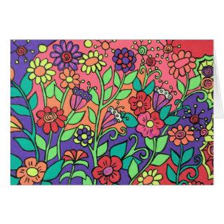 Carte lunatique de fleurs