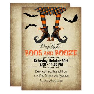 Carte Lunatique hue et partie de Halloween de boissons