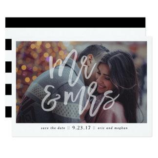 """Carte """"M. et Mme"""" économies de photo la date"""