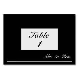 Carte M. personnalisé et Mme noirs et blancs Table Card