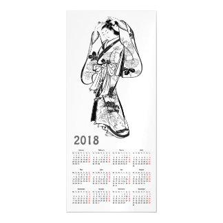 Carte Magnétique 2018 Japonais vintages de calendrier impriment la