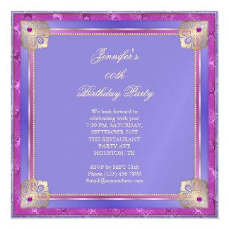 Carte Magnétique Beau bleu royal et anniversaire de torsion d'or de