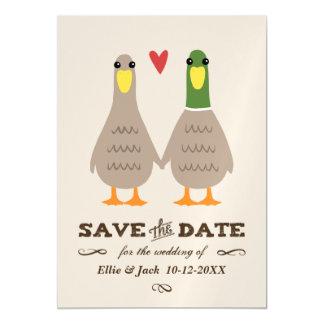 Carte Magnétique Canards d'amour épousant des économies la date