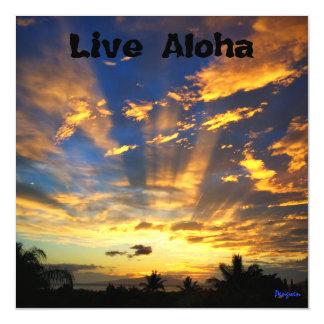 Carte Magnétique L'aimant, vivent Aloha, coucher du soleil, Maui
