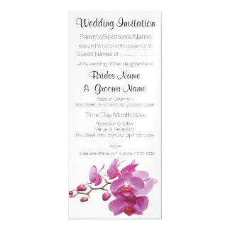 Carte Magnétique Le mariage peu coûteux d'orchidées empaquette des
