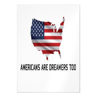 Carte Magnétique Les Américains d'atout sont des rêveurs