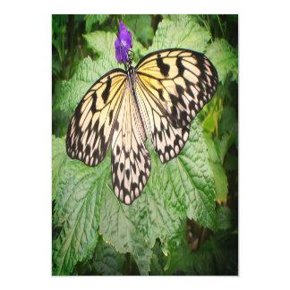 Carte Magnétique Papillon jaune et noir