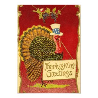 Carte Magnétique Rétro thanksgiving Turquie