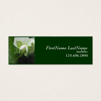 Carte maigre cachée de profil de jardinier de