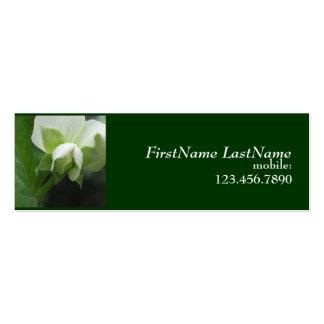 Carte maigre cachée de profil de jardinier de carte de visite petit format